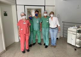 Equipe do Instituto de Neurologia de Goiânia para tratamento de pacientes com Covid-19